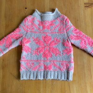 Crewcuts Knit ski sweater size 2